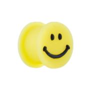 Plug gelb mit Smiley