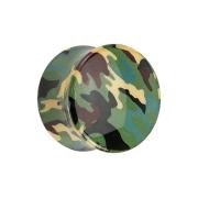 Flared Plug Tarnung Military grün
