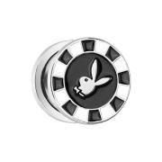 Plug mit Playboy Bunny auf Schwarzem Poker Chip