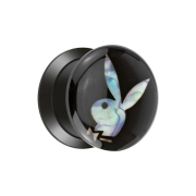 Flared Plug mit Playboy Bunny aus Perlmutt