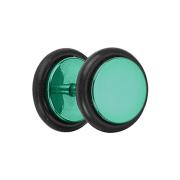 Fake Plug grün mit O-Ring und Titanium Beschichtung