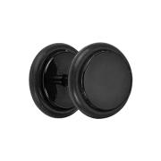 Fake Plug schwarz mit O-Ring und Titanium Beschichtung
