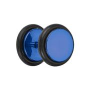 Fake Plug dunkelblau mit O-Ring und Titanium Beschichtung