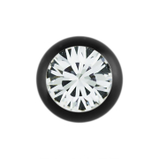 Micro Kugel Supernova Absolute Black mit Swarovski silber