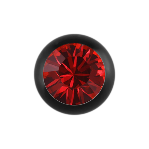 Micro Kugel Supernova Absolute Black mit Swarovski rot