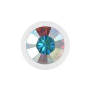 Micro Kugel Supernova Pure White mit Swarovski multicolor