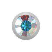 Micro Kugel Supernova High Polished mit Swarovski multicolor