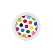 Micro Kugel Supernova Pure White mit Polka Dots weiss/farbig