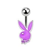 Micro Banane silber mit Playboy Bunny violett