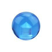 Micro Kugel hellblau transparent