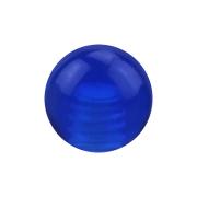 Micro Kugel dunkelblau transparent