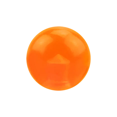 Micro Kugel orange transparent
