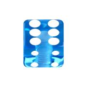 Micro Würfel dunkelblau transparent
