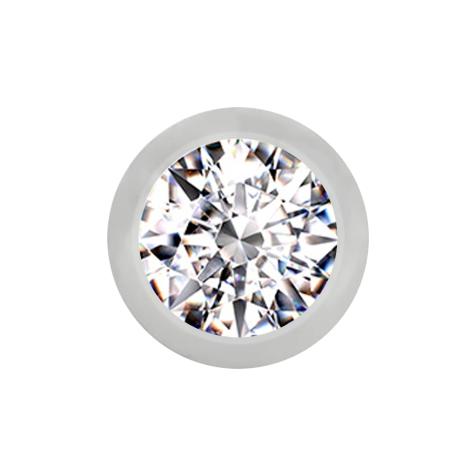 Micro Kugel silber mit Kristall silber