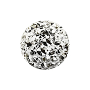 Micro Kristall Kugel silber Epoxy Schutzschicht