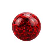Micro Kristall Kugel rot mit Epoxy Schutzschicht