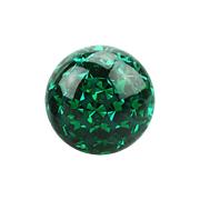 Micro Kristall Kugel grün mit Epoxy Schutzschicht