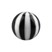 Micro Kugel mit Twistet schwarz