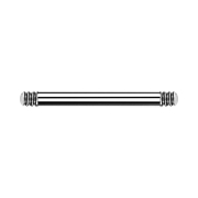 Micro Barbell-Stab silber
