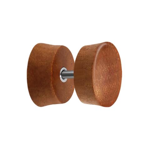 Fake Plug aus Sawo Holz