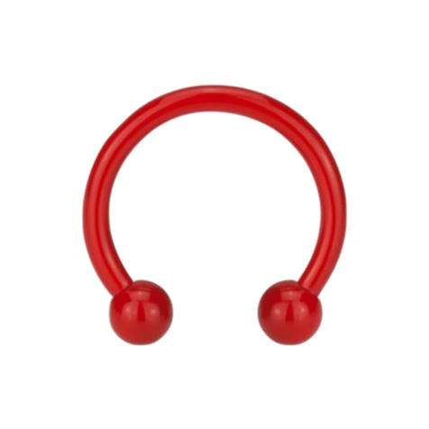 Micro Circular Barbell Supernova Fire Red mit Kugel