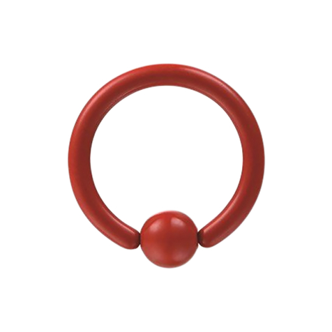 Micro Ball Closure Ring Supernova Fire Red