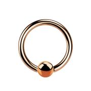 Micro Ball Closure Ring rosegold