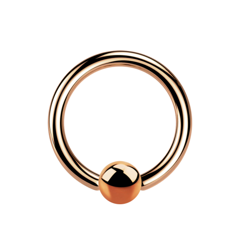 Micro Ball Closure Ring rosegold