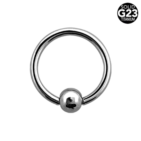 Micro Ball Closure Ring silber