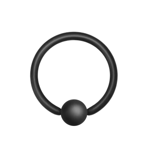 Micro Ball Closure Ring schwarz matt