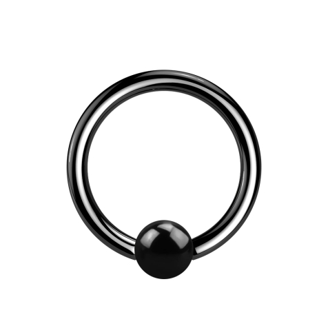 Micro Ball Closure Ring schwarz