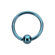Micro Ball Closure Ring hellblau