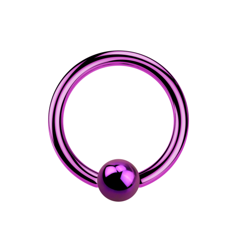 Micro Ball Closure Ring violett mit Titanium Schicht