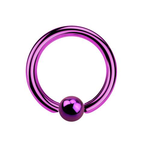 Ball Closure Ring violett mit Titanium Schicht