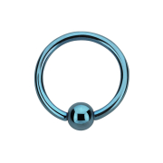 Micro Ball Closure Ring hellblau mit Titanium Schicht