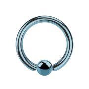Ball Closure Ring hellblau mit Titanium Schicht