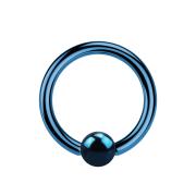 Micro Ball Closure Ring dunkelblau mit Titanium Schicht