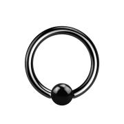 Micro Ball Closure Ring schwarz mit Titanium Schicht