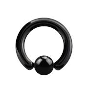 Ball Closure Ring schwarz mit Titanium Schicht