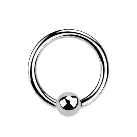Micro Ball Closure Ring silber
