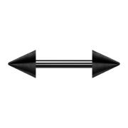Barbell schwarz mit zwei Cones