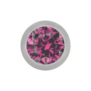 Kugel silber mit Kristall pink