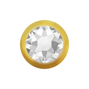 Micro Kugel vergoldet mit Kristall silber