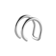 Fake Ear Cuff silber mit 2 Ringen