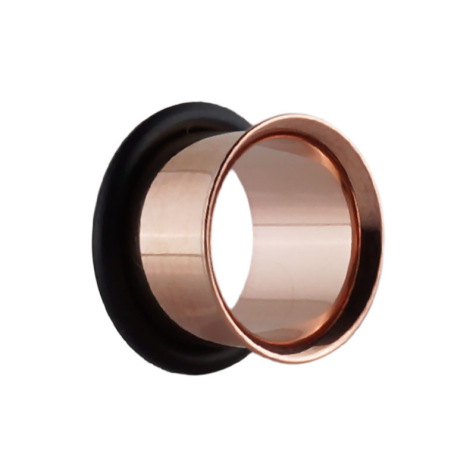 Flared Tunnel rosegold mit O-Ring