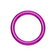Segmentring violett mit Titanium Schicht