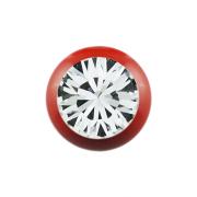 Micro Kugel Supernova Fire Red mit Swarovski silber