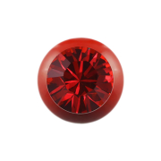 Micro Kugel Supernova Fire Red mit Swarovski rot