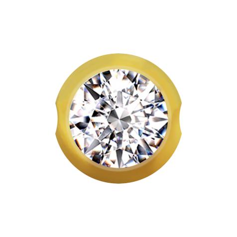 Ball Closure Kugel vergoldet mit Kristall silber