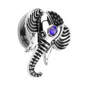 Plug Elefant silber mit Kristall
